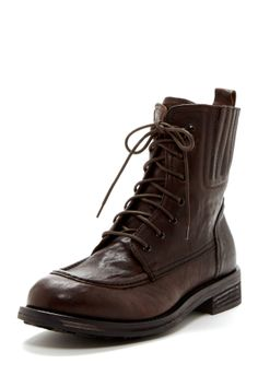 buy online ab614 4755d Lace-Up Leather Work Boot Pascale De Groof