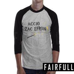 Accio zac efron shirt tshirt clothing tee t-shirt raglan baseball km59
