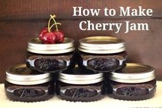 Cherry jam. I made some earlier this year with crabapples to provide the pectin. It was wonderful.