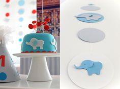 Adorable Elephant 1st Birthday, great for boys or girls!