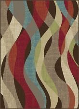 CLEARANCE Area Rug, Brown Striped  8X10 NEW STYLE Carpet #81836