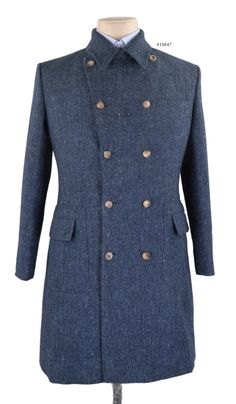 #01663 Molloy Plain Donegal Tweed - Blue overcoat from Luxire is an idol blend of comfort and style for the season: http://custom.luxire.com/…/molloy-plain-donegal-tweed-blue-… Features: Patch pockets with flaps and barchetta pocket.