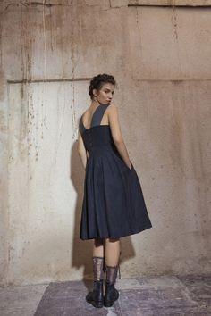 burlap color block dress | rina zin