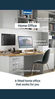 Rethink the way you have been working from home this year. Browse our new fitted home office brochure, explore the range or book a FREE design appointment to get started. Small Home Offices, Home Office Space, Home Office Design, Home Office Furniture, Home Office Decor, Home Decor Bedroom, Office Ideas, Alcove Ideas, Project 22