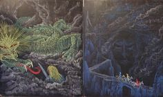 Waldorf ~ 4th grade ~ Norse Mythology ~ Siegfried, Hel ~ Siegfried saga ~ chalkboard drawing
