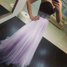 High Quality Light Lavender Tulle Prom Dresses 2016, Long Prom Dresses 2016, Prom Gowns, Evening Gow on Luulla