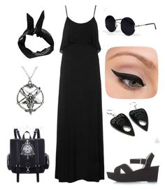 A fashion look from July 2015 featuring ruffle dress, goth costume and strap sandals. Browse and shop related looks. Grunge Style, Soft Grunge, Goth Style, Dark Fashion, Grunge Fashion, Gothic Fashion, Boho Fashion, Witch Fashion, Fashion Ideas