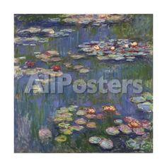 Water Lilies (Nymph¨¦as), c.1916 Landscapes Art Print - 30 x 30 cm