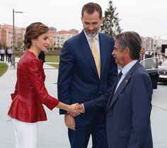 Queen Letizia and King Felipe at opening of the new art center  visit  http://www.regalfille.com/2017/6/letizia-art-center.php