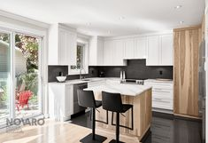 Armoires de cuisine - Garnier | Armoires de cuisines Québec | Novaro