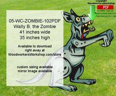05-WC-ZOMBIE-102PDF - Wally B. the Zombie Yard Art Woodworking Pattern Downloadable PDF #diy #woodcraftpatterns
