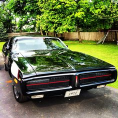 The Little Black Dress- Miss Mopar's 1972 Dodge Charger.   Visit us on FaceBook- Facebook.com/MissMopar
