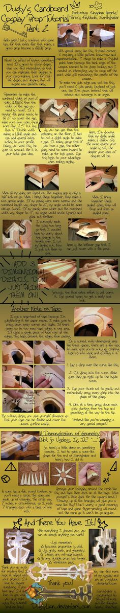 Cardboard Prop Tutorial pt 2 by DustyLion.deviantart.com on @deviantART