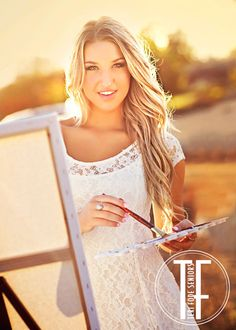 painting in senior pictures | Brittany is an artist—she loves to paint. Capturing her passion for ...