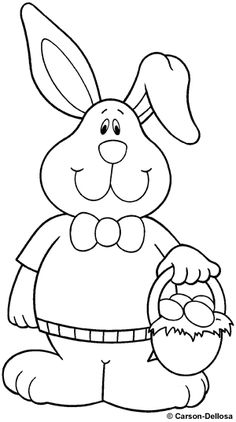 Bunny Coloring Page Easter ColouringColoring