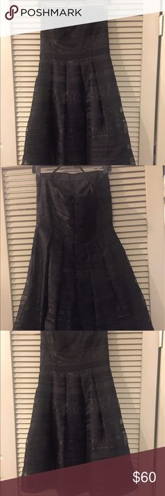 Strapless little black dress This is the perfect cocktail dress! Strapless, falls just above the knee with back zipper. Only worn once. White House Black Market Dresses Strapless