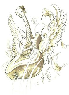 Guitar with wings