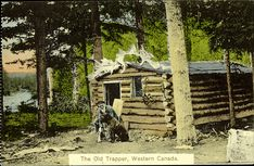 Log Cabin In The Woods | : View of a small log cabin in the woods. The exterior of the cabin ...