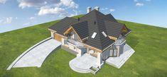 4 Bedroom House Designs, Civil Construction, Little Houses, Home Fashion, Villas, Home Interior Design, House Plans, Cottage, Mansions