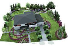 Garden Design Plans, Backyard Garden Design, Vegetable Garden Design, Garden Landscape Design, Green Landscape, Diy Garden Decor, Privacy Landscaping, Home Landscaping, Front Yard Landscaping