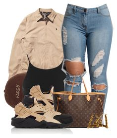 """""""Untitled #583"""" by b-elkstone ❤ liked on Polyvore featuring Ralph Lauren, Miss Selfridge, NIKE and Louis Vuitton"""