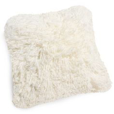 VALTHORENS faux fur cushion in ecru | Maisons du Monde