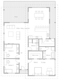 Home Plan Modern House Plan to Modern Family. Family House Plans, New House Plans, Small House Plans, House Floor Plans, Model House Plan, Small Tiny House, My Ideal Home, Facade House, Plan Design