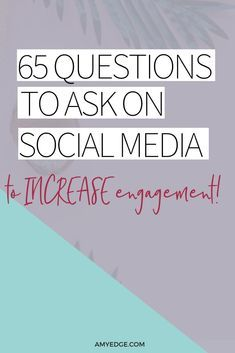 65 Questions to Ask on Social Media to Get the Conversation Started (no optin required) Asking questions on social media is a great way to engage your audience. Here are 65 social media questions you can ask to increase engagement. #socialmediamarketing #marketing#onlinebusiness