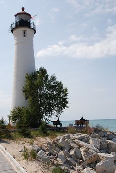 Only 20 miles west of Sault Ste. Marie, the Crisp Point Lighthouse is a perfect stop to include in any day trip. Explore the lighthouse and its' history while enjoying the view of freighters floating by on Lake Superior. Crisp Point Lighthouse, Sault Ste Marie, Lighthouse Lighting, Lighthouse Pictures, Michigan Travel, Lake Superior, Great Lakes, Travel Pictures, Beautiful Places