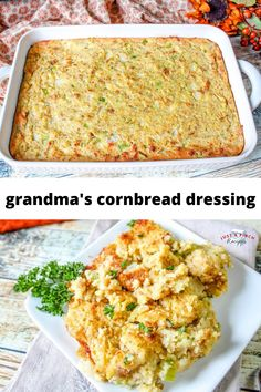 Traditional Thanksgiving cornbread dressing is a must-have side dish! I must have this served with cranberry sauce and a slice of turkey! All my family looks forward to the dressing, it just would not be Thanksgiving without it. Thanksgiving Casserole, Easy Thanksgiving Recipes, Thanksgiving Side Dishes, Fall Recipes, Holiday Recipes, Dinner Recipes, Thanksgiving Meal, Budget Recipes, Holiday Meals