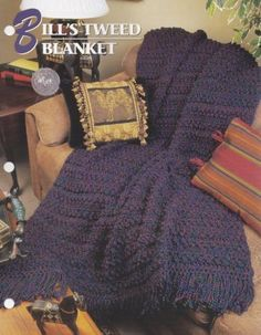 Bill-039-s-Tweed-Blanket-Annie-039-s-Crochet-Quilt-amp-Afghan-Pattern-Leaflet-QAC333-01