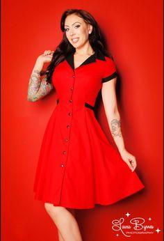 Retro Rockabilly Diner Dress in Red from Heartbreaker Fashion