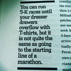 NO. I resent this quote. You can run distance all day long - but how fast are you in a 5k? Speed over distance ANY day!