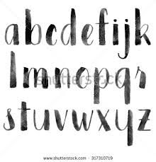Image result for brush letter alphabet