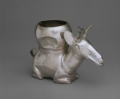 Deer Vessel Date: 14th–15th century Geography: Peru Culture: Chimú Medium: Silver