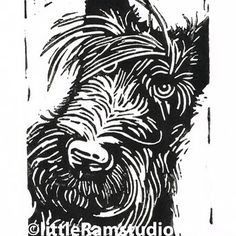 Scottie Dog - Original Hand Pulled Linocut Print £18.00