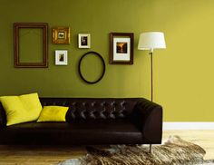 Split pea- Benjamin Moore paint color  I would seriously use this for an accent color!