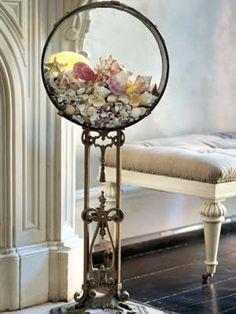 Linda Rodin -A Seashell Lovers New York City Apartment.... a good idea...  I would put Mermaid tears (Sea glass) instead
