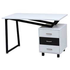 Executive Desk with Drawer   Wayfair Supply
