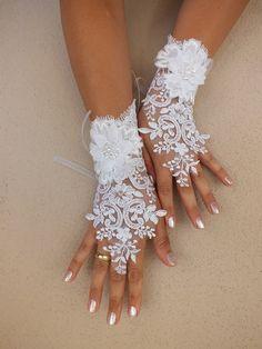Wedding Glove white lace gloves Fingerless Glove by WEDDINGHome, $35.00