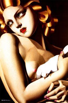 """""""Emme a la Colombe"""" - Tamara Lempicka"""