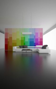The beauty of colour - these movable tiles to change the mood of your personal space! Love that concept..