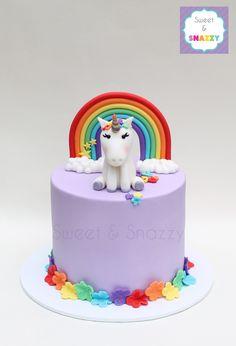 Rainbow Unicorn Cake by Sweet & Snazzy https://www.facebook.com/sweetandsnazzy