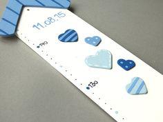 Kinderzimmerdekoration - Messlatte Herzen - ein Designerstück von Holzlotte bei DaWanda