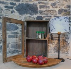 We have sourced some one off pieces for our vintage lovers. This beautiful Hanging Cabinet has a glass door with one shelf and two hooks on the back. Wooden, Glass Door, Hanging Cabinet, Cabinet, Wall Accessories, Hanging, Glass, Vintage, Doors