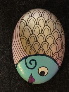 Fish - painted rock