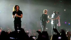 Harry Styles looks a lonely figure during the last concert before the planned…