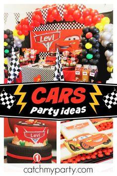 Cars Disney Movie Birthday Levis 1st Party