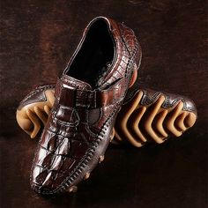 Crocodile Leather Loafers Casual Driving Shoes is part of Shoes - Fashionable & stylish shoe appearance, makes you stand out in the crowd, these shoes are suitable for driving and other casual or formal dress occasions Ankle Boots Men, Shoe Boots, Leather Loafers, Loafers Men, Dior Shoes, Dress Shoes, Mens Fashion Shoes, Fashion Fall, Gentleman Shoes