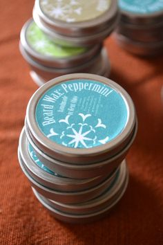 Peppermint Whisker Wax  Beard Wax 1/2 oz by happyhomesteading, $4.00